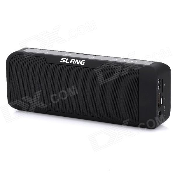 SLANG-J6 2 x 3W Bluetooth V3.0 Stereo Speaker / 4000mAh Power Bank w/ Mic, USB, TF, 3.5mm Jack t050 3w mini portable retractable stereo speaker w tf black golden 16gb max