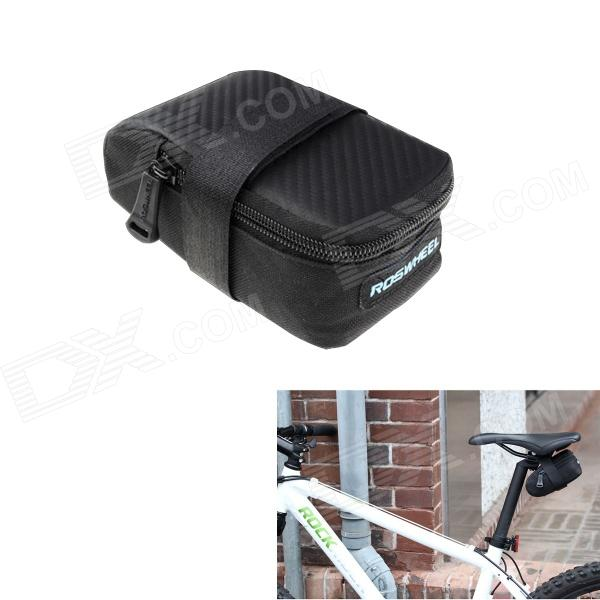ROSWHEEL 13876mk Bike Bicycle Nylon Saddle Seat Tail Bag - Black (M) roswheel mtb bike bag 10l full waterproof bicycle saddle bag mountain bike rear seat bag cycling tail bag bicycle accessories