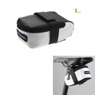 ROSWHEEL 13876lk Bike Bicycle Nylon Saddle Seat Tail Bag - White + Black (L)
