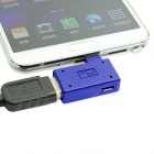 CY U2-271-RI Right Angled Micro USB OTG Adapter with Micro Power for Samsung Galaxy Note 3 / S3 / S4