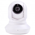 "NC500 1/4"" CMOS 720P IP Camera w/ 11-IR-LED / Wi-Fi / IR-CUT / TF - White + Black (US Plug)"