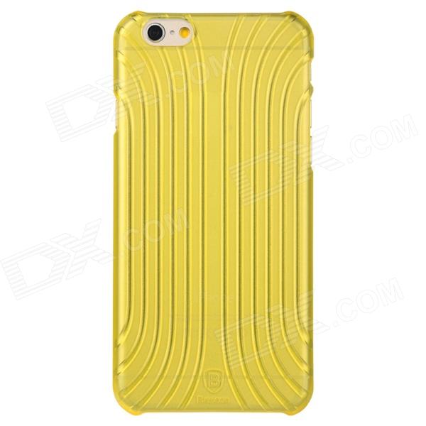 Baseus LSAPIPH6-BC0Y Shell Style Protective PC Back Case for IPHONE 6 - Translucent Yellow kajsa carbon fiber aluminum coated pc back shell for iphone 7 4 7 gold