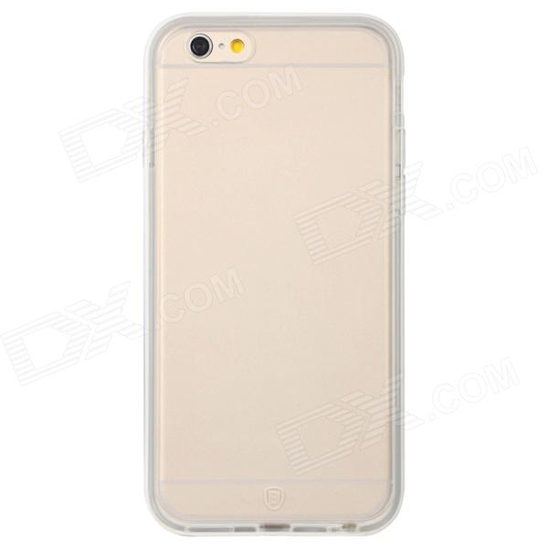 Baseus FRAPIPH6-MT02 Protective Soft TPU Back Case for IPHONE 6 - Translucent White mooncase premium pu flip leather wallet card pouch back чехол для cover apple iphone 6 4 7 красный