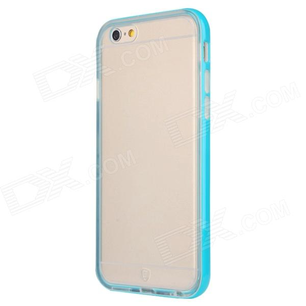 Baseus FRAPIPH6-MT03 Protective Soft TPU Back Case for IPHONE 6 - Transparent + Blue korean brand iphone6 4 7