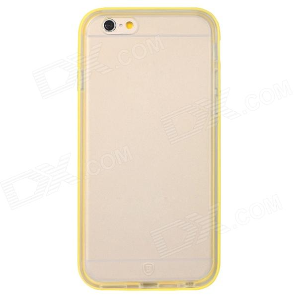 Baseus FRAPIPH6-MT0Y Protective Soft TPU Back Case for IPHONE 6 - Transparent + Yellow korean brand iphone6 4 7
