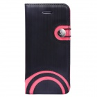 Baseus LTAPIHMINI-RW01 Rainbow Pattern Leather Case for IPHONE 5C - Black