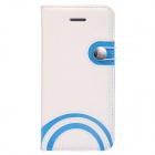Baseus LTAPIHMINI-RW02 Rainbow Pattern Leather Case for IPHONE 5C - White