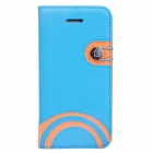 Baseus LTAPIHMINI-RW03 Rainbow Pattern Leather Case for IPHONE 5C - Blue