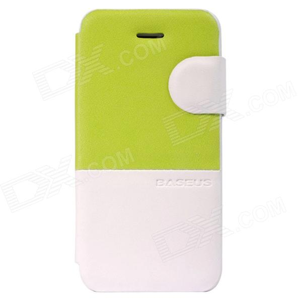 Baseus Lively pu Case for IPHONE 5C - Grass Green + White