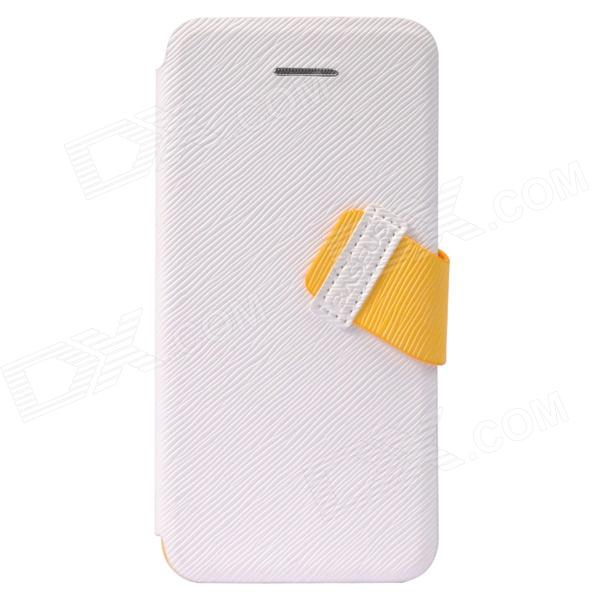 все цены на Baseus Faith PU Leather Case for iIPHONE 5C - White онлайн