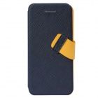 Baseus Protective Flip Open PU + PC Case w/ Velcro for IPHONE 5C - Dark Blue