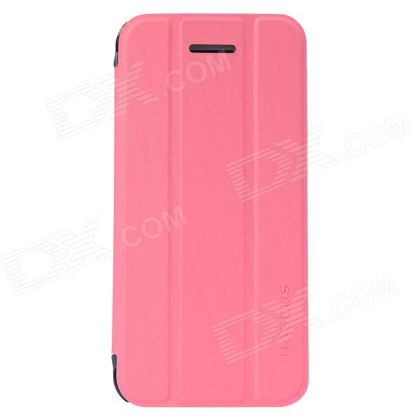 все цены на Baseus LTAPIHMINI-SL0R Protective PU Leather Full Body Case w/ Stand for IPHONE 5C - Deep Pink онлайн