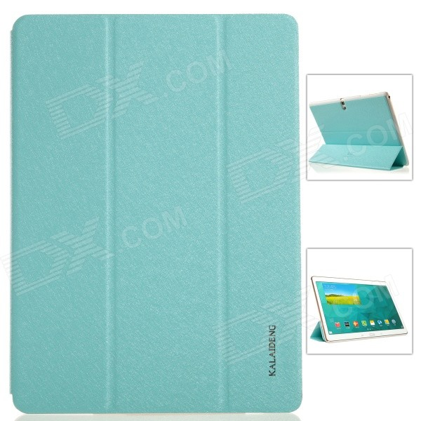 KALAIDENG Protective PU Leather Case Cover w/ Stand for Samsung Galaxy TAB S 10.5 T800 - Blue kalaideng protective pu leather case cover w stand for samsung galaxy note 4 black