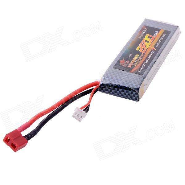 Fire Bull 2600mAh 7.4V 25C Li-po Battery for R/C Car, Boat, Airplane, Helicopter Toy - Black b5k model airplane remote control potentiometer with 180 15f