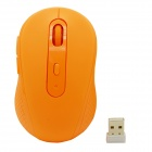 2.4GHz 1480DPI Wireless Optical Mouse w/ USB Receiver - Orange