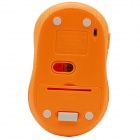 2.4GHz 1480DPI Wireless Optical Mouse w / receptor USB - Orange