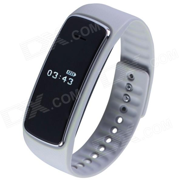 Aoluguya S9 Smart Bluetooth Phone Bracelet w/ OLED, Remote Taking Photo, Sports Monitor - Grey гаджет bluetooth aux адаптер rexant bluetooth aux 3 5mm 18 2400 9
