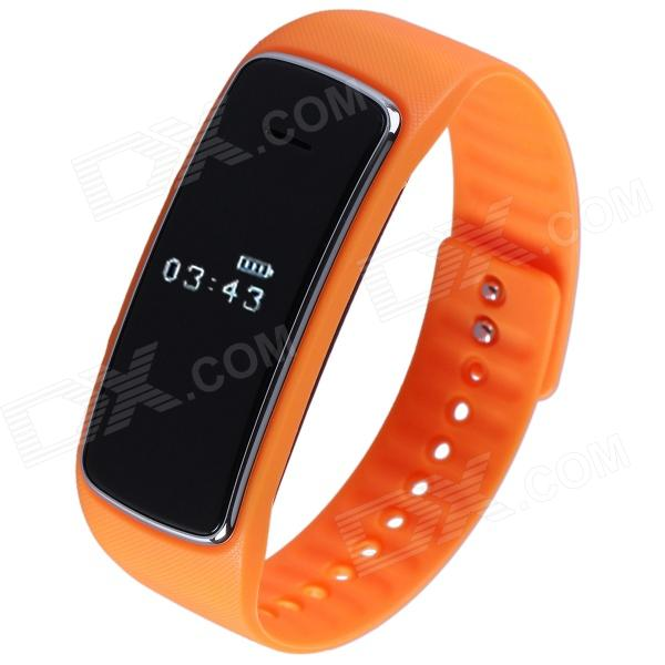 Aoluguya S9 Smart Bluetooth Phone Bracelet w/ OLED, Remote Taking Photo, Sports Monitor - Orange гаджет bluetooth aux адаптер rexant bluetooth aux 3 5mm 18 2400 9