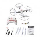 L6039 L6039 2.4GHz 4-CH Radio Control Outdoor R / C Quadcopter w / Gyroscope - Valkoinen + Musta