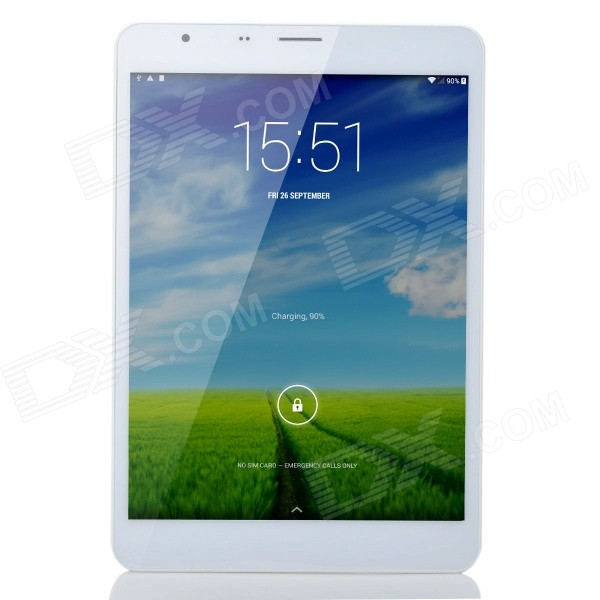 Teclast P89 7.9 IPS Octa Core Android 4.4 3G Tablet PC w/ 2GB RAM, 16GB ROM, TF, Dual-Cam - Gold - DXTablets<br>Color Golden + White Brand OthersTeclast Model P89 3G Quantity 1 Piece Shade Of Color Gold Material Plastic + aluminum alloy Processor Brand Mediatek Processor Model OthersMT8392 Processor Speed 1.7 GHz Number of Cores Octa-Core Operating System Android 4.4 GPU Mali-450 MP RAM/Memory Type Others Built-in Memory / RAM 2GB Capacity / ROM 16GB Screen Size 7.9 Inch Screen Type IPS Touch Type Capacitive screen Resolution Others2048 x 1536 Touch Point 5-point Capacitive Touch Screen 3G Type WCDMA 3G Frequency Range 2100 3G Function 3G Phone callSurf the Internet 2G Yes 2G Frequency Range GSM 900/1800MHz GPS Yes Supported Network WifiBuilt-in 3GBluetooth Wi-Fi Standard IEEE 802.11 b/g/n Gravity Sensor Yes Bluetooth Version V4.0 Microphone Yes Interface 1 x 3.5mm1 x micro USB USB Charge Yes Google Play(Android Market) Yes Camera 2 x Camera Front Camera Pixels 2.0 MP Back Camera Pixels 5.0 MP Storage Interface TF Images BMPGIFJPEGOthersPNG E-book OthersTXT Video Formats RMRMVBAVIOthersWMV / MP4 / MPG / MPEG / FLV External Memory Max. Support 64 GB Plug Specifications US Plug (2-Flat-Pin Plug) Tip Diameter 5.0 x 3.0 Supported Languages EnglishFrenchGermanItalianSpanishPortugueseRussianPolishGreekTurkeyJapaneseSwedishChinese SimplifiedChinese TraditionalHebrewOthersUkrainian Battery Capacity 5000 mAh Battery Type Li-polymer battery Working Time 6~8 Hour Standby Time 100~200 Hour Charging Time 4~5 Hour Packing List 1 x Tablet PC 1 x Chinese user manual 1 x Micro USB cable (65cm) 1 x Micro USB OTG cable (6cm) 1 x US plug power adapter (100-240V)<br>