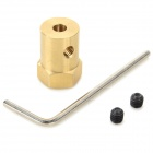 DIY 4mm Acoplamiento hexagonal Conector para R / C Car - Bronce