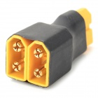 AM-MC08 DIY XT60 Adapter Connector for R/C Helicopter - Black + Yellow