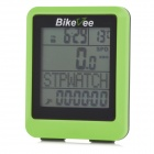 "BIKEVEE BKV-9100H Multi-Functional 1.7"" Screen Wireless Bike Computer w/ Heart Rate Function - Green"