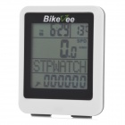 "BIKEVEE BKV-9100H Multi-Functional 1.7"" Screen Wireless Bike Computer w/ Heart Rate Function - White"