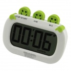 "2.5"" LCD Countdown Desk Clock - White + Green (1 x AAA)"