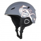 AIDY 618 Lightweight Comfortable PC + EPS Skiing Helmet - Grey