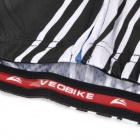 VEOBIKE Men's Professional Cycling Short Sleeves Jersey Top Clothes - Black + White (L)