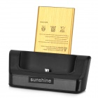 "Sunshine Phone / Battery OTG Charging Dock + 3.8V ""4200mAh"" Battery + Charging Cable for LG G3"