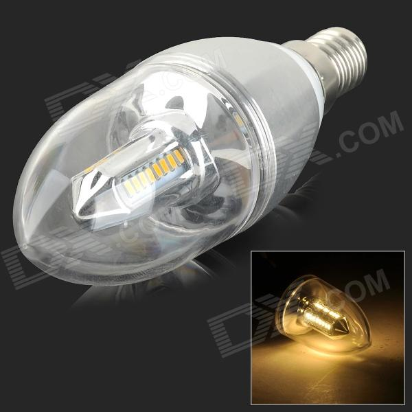 YouOKLight TH-001 E14 3W 240lm 3000K 32-SMD 3014 LED Warm White Candle Lamp - Silver (AC 85~265V)