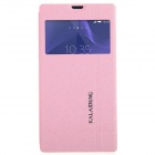 KALAIDENG Protective PU Leather Case Cover Stand for Sony Xperia T3 - Pink