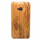 Wind Wave Pattern Detachable Protective Wood Back Case for HTC ONE M7
