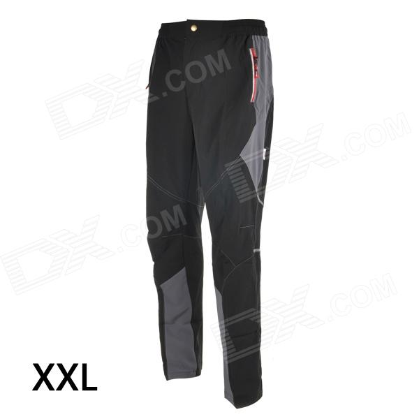 TOP CYCLING SAK605 Causal Breathable Quick-Dry Cycling Long Pants Trousers - Black (XXL)