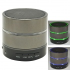 Mini Bluetooth V3.0 Speaker w/ Mic / TF Slot / FM Radio - Deep Grey + Black