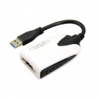 USB 3.0 Male to HDMI Female 1080p Audio Video Display Adapter - White + Black