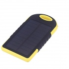 SP5000 Universal Rainproof Shockproof 4000mAh Solar Li-ion Battery Power Bank - Black + Yellow