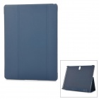 Flip Open PU + PC Case w/ Stand / Auto-Sleep for 10.5'' Samsung Galaxy Tab S T800 - Deep Blue