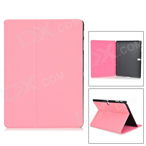 Protective PU + PC Case w/ Stand for Samsung Galaxy Tab S 10.5 T800 - Pink