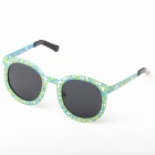 OREKA Retro Hollow-out Frog Mirror Lens UV400 Polarized Sunglasses - Blue