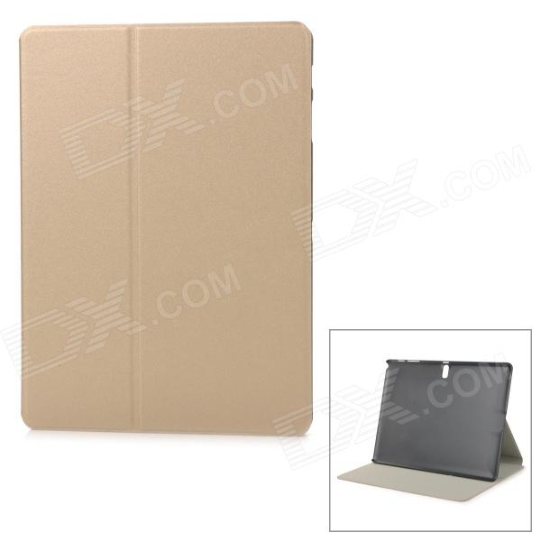 Protective Flip-Open PU + PC Case w/ Stand for 10.5 Samsung Galaxy Tab S T800 - Champaign Gold buildreamen2 55w 9005 9006 h1 h3 h7 h8 h9 h11 880 881 hid xenon kit ac ballast bulb 10000k blue car headlight lamp fog light
