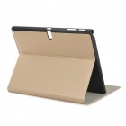 "PU + PC Case for 10.5"" Samsung Galaxy Tab S T800 - Champagne Gold"