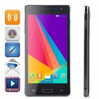"G3518W 7715 Android 4.4.2 Dual-core WCDMA Bar Phone w/ 4.0"" Capacitive, Blutooth, Wi-Fi, GPS - Black"