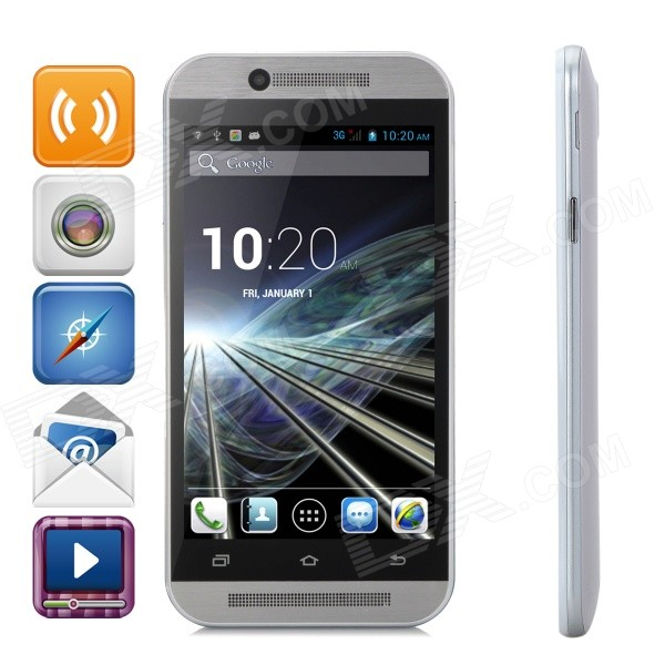 M8 MT6572 Dual-Core Android 4.2.2 WCDMA Bar Phone w/ 4.3
