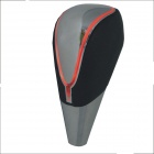 Carking PU cubierta de cuero Touch Knob Activado Shift Red Light LED - Negro + Blanco hueso