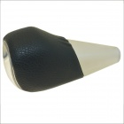 Carking PU Leather Cover Touch Activated RGB LED Light Shift Knob - Black + Off-white