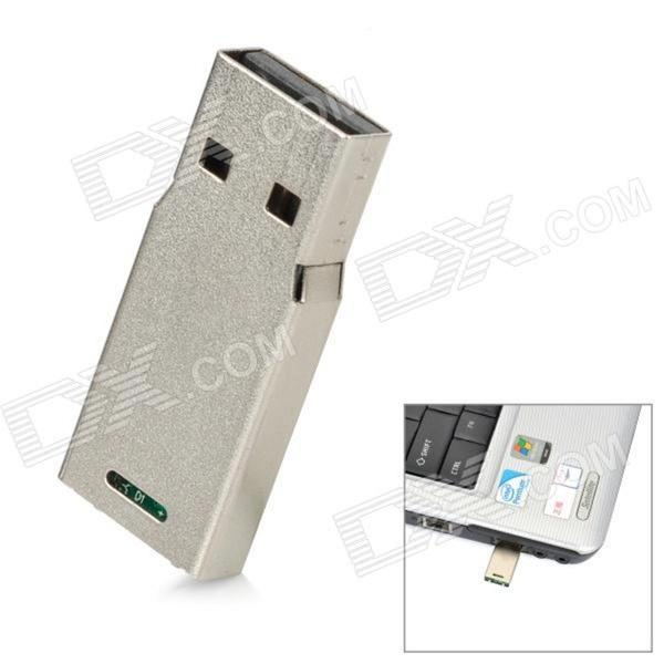 Mini alumínio USB 2.0 Flash Drive - Prata (16GB)
