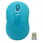 2.4GHz 1480DPI Wireless Optical Mouse w/ USB Receiver - Blue
